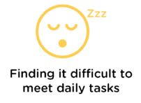 Finding it difficult to meet daily tasks
