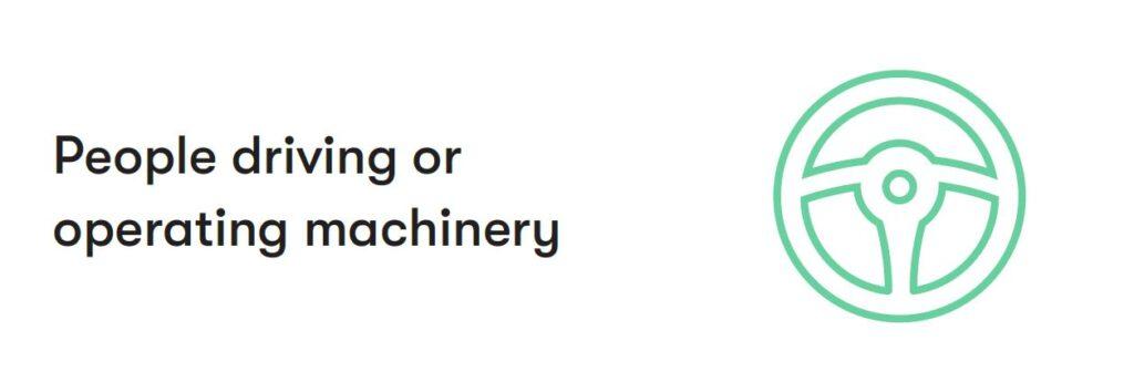 operating machinery